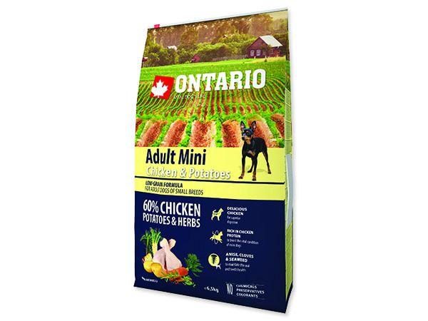 ONTARIO Dog Adult Mini Chicken & Potatoes & Herbs 6,5kg