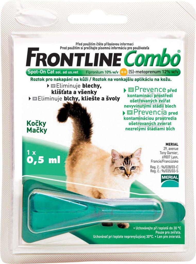 Frontline Combo antiparazitní pipeta pro kočky 1 x 0,5 ml
