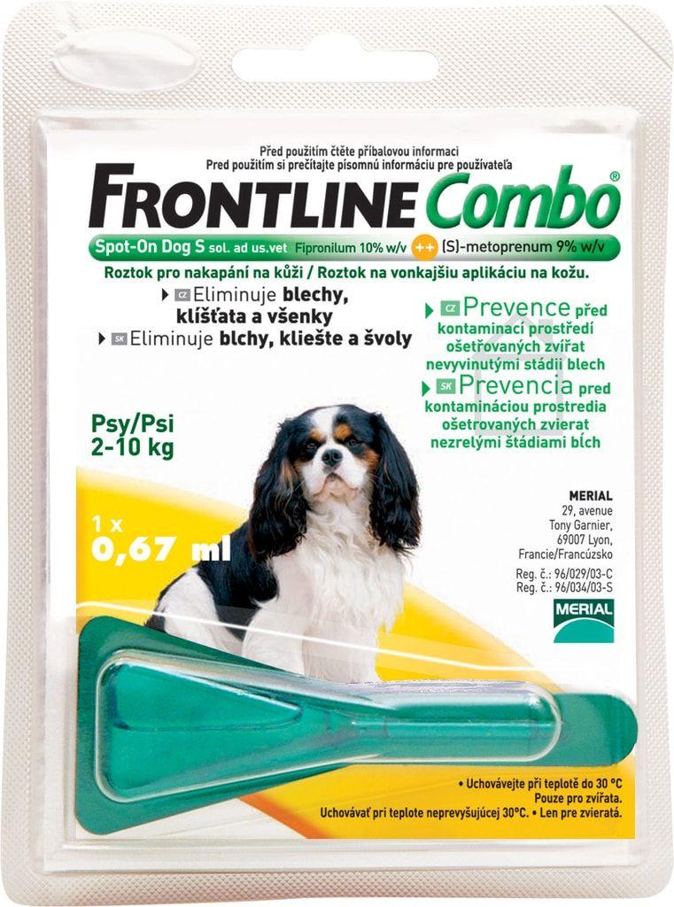Frontline Combo antiparazitní pipeta pro psy S 1 x 0,67 ml