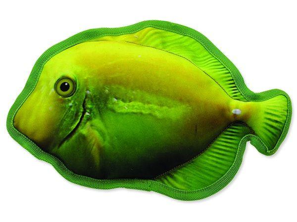 Hračka DOG FANTASY textilní ryba žlutá 28 cm