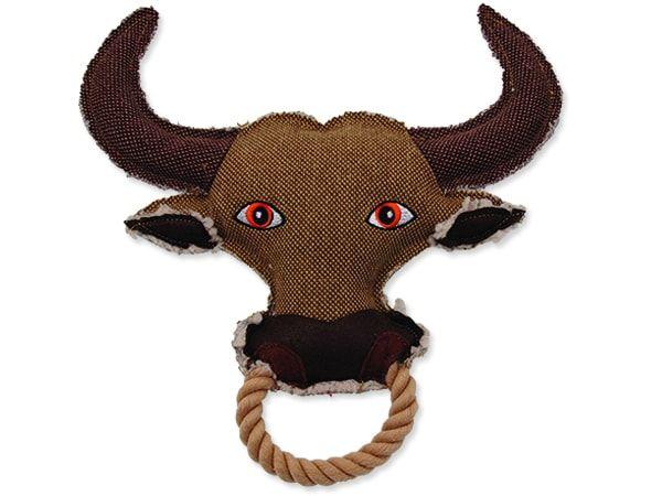 Hračka DOG FANTASY textilní kráva 28 cm