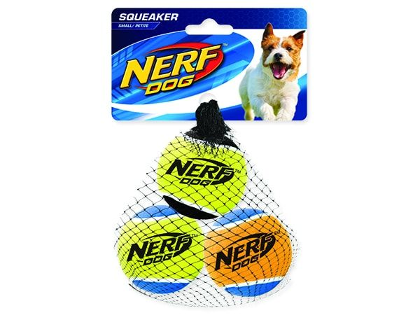 Hračka NERF tenisák pískací 5cm 3ks