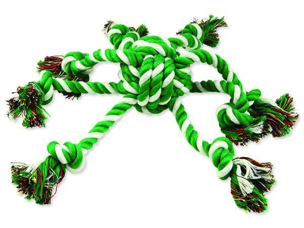 Přetahovadlo DOG FANTASY chobotnice zeleno-bílá 45 cm