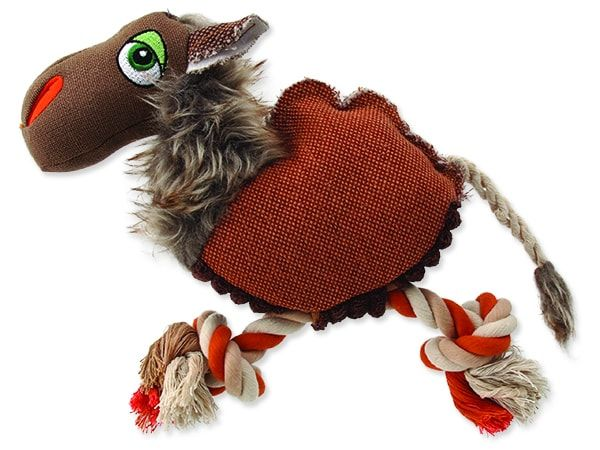 Hračka DOG FANTASY textilní velbloud 26 cm