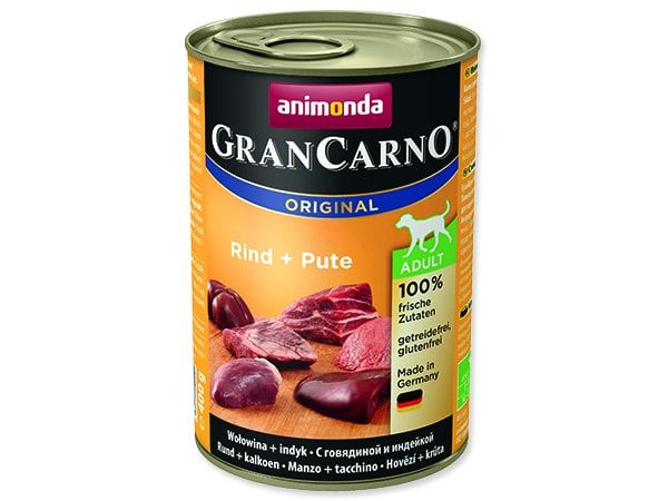 Konzerva ANIMONDA Gran Carno hovězí + krůta 400g