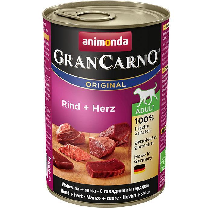 Animonda Gran Carno Hovězí + Srdce 400g