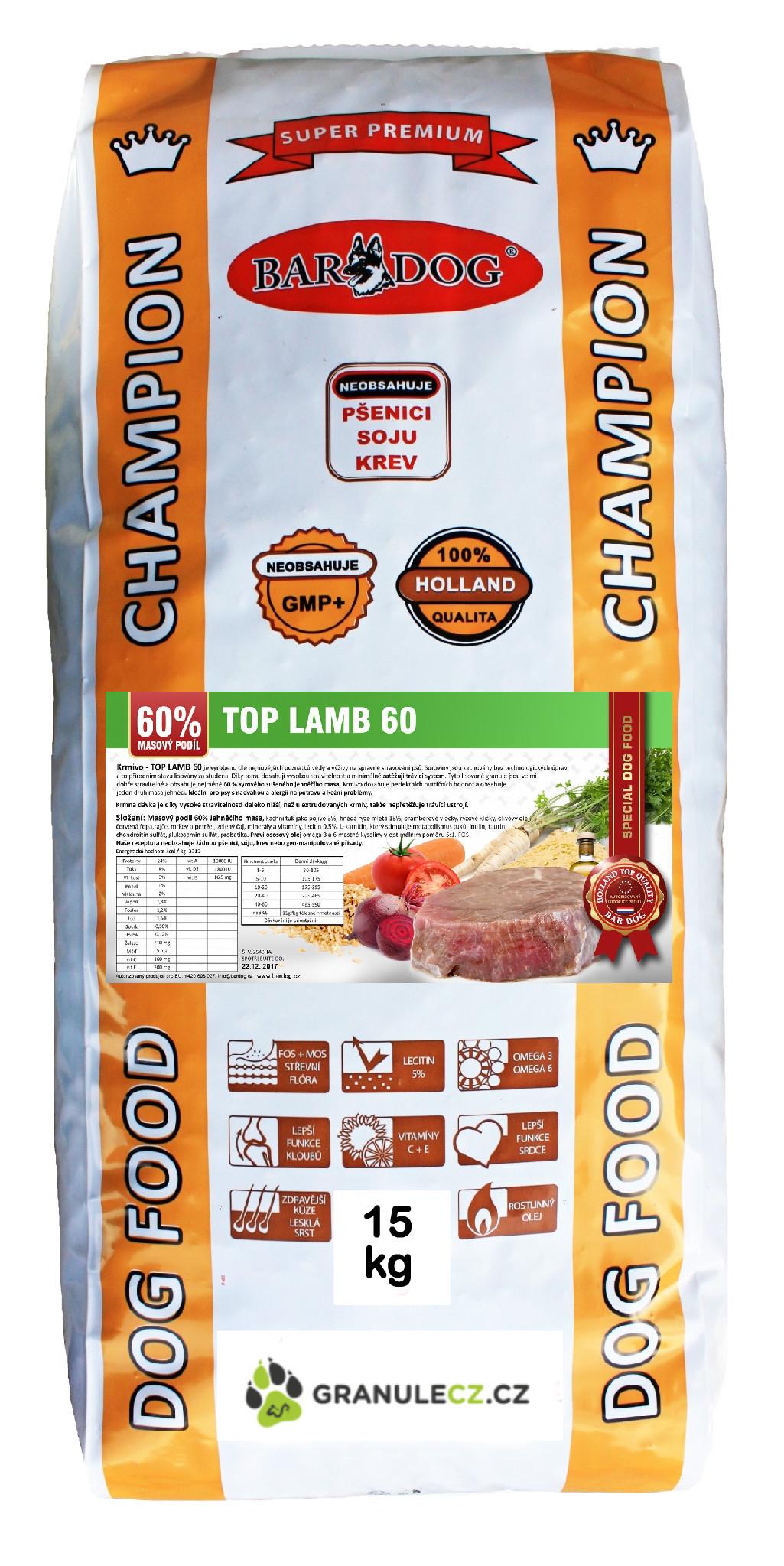 Bardog Top Lamb 60 - 15 kg