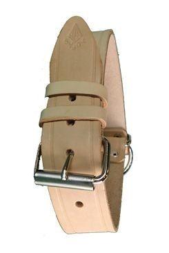 Obojek kožený stahovák 65cmx4cm přírodní 1ks