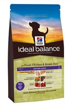 Hill's Canine Ideal B. Mature Adult kuře a rýže 2kg