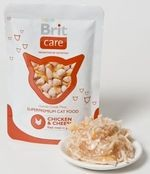 BRIT CARE cat kapsa 80g CHICKEN/cheese