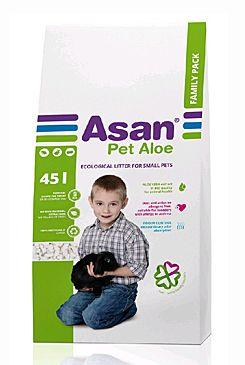 ASAN Pet Aloe Podestýlka hlodavce a králíčky 45l