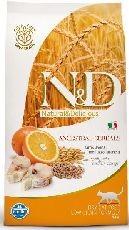 N&D low grain cat ADULT CODFISH/orange 10kg