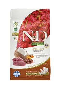 N&D GF Quinoa DOG Skin&Coat Venison & Coconut 800g