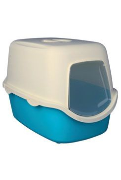 WC kočka kryté domek VICO 40x40x56 TR tyrkysová/bílá