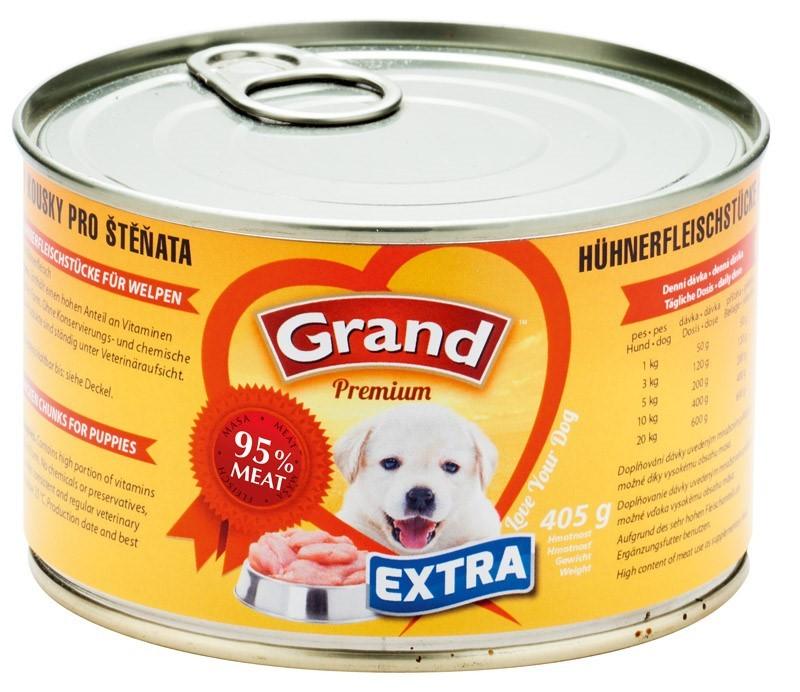 GRAND EXTRA - kuřecí kousky pro štěňata 405g