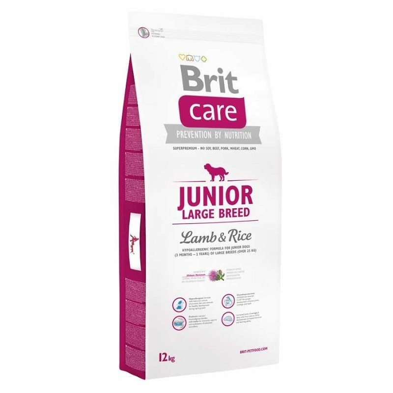 Brit Care Dog Junior Large Breed Lamb & Rice 12 kg + 3Kg ZDARMA