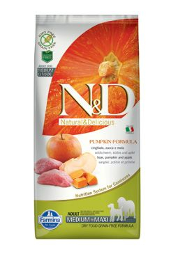 N&D GF Pumpkin DOG Adult M/L Boar & Apple 12kg