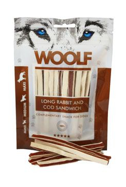 WOOLF pochoutka soft Rabbit&Pollock sandwich LONG 100g