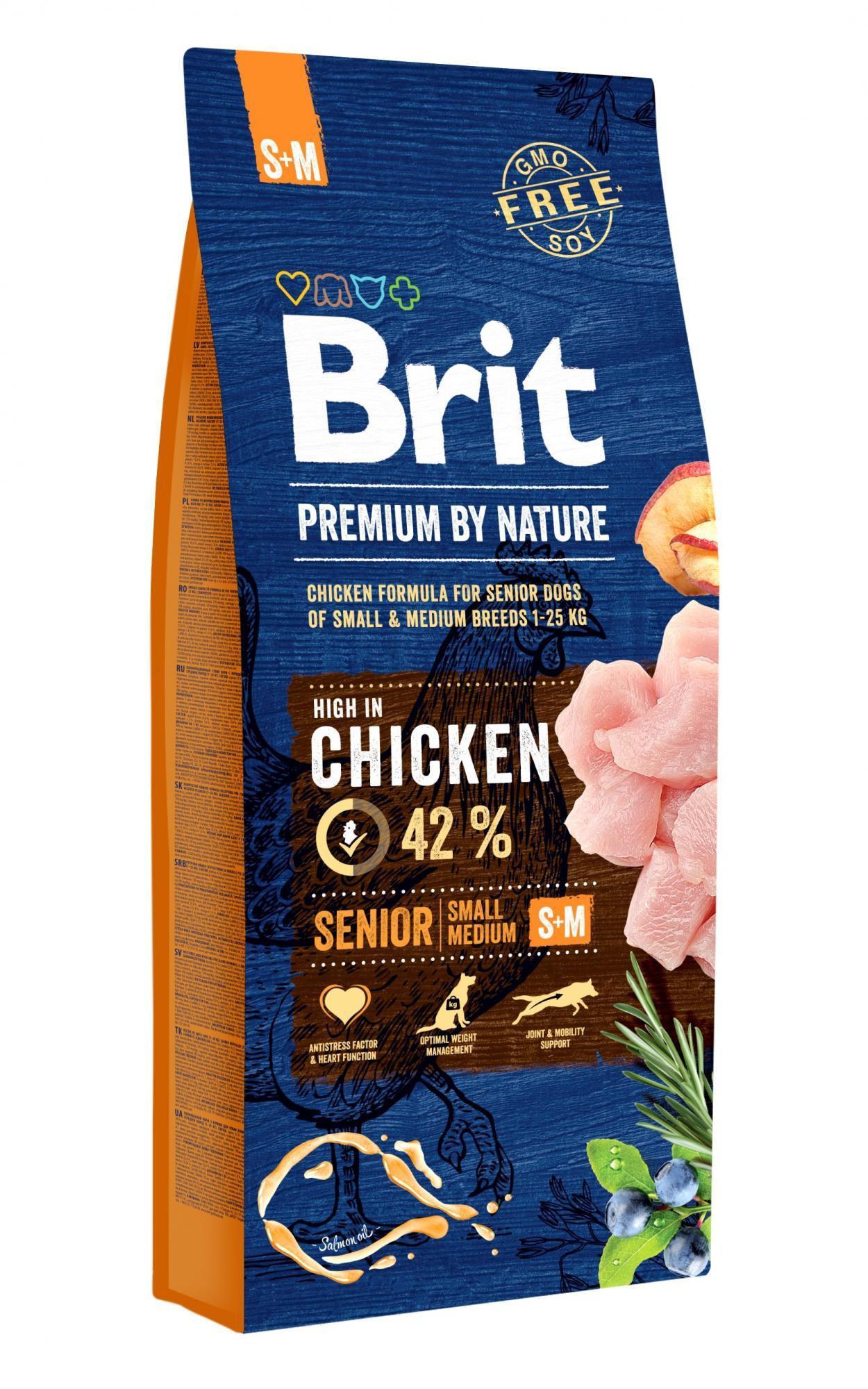 BRIT dog Premium By Nature SENIOR S+M 15kg