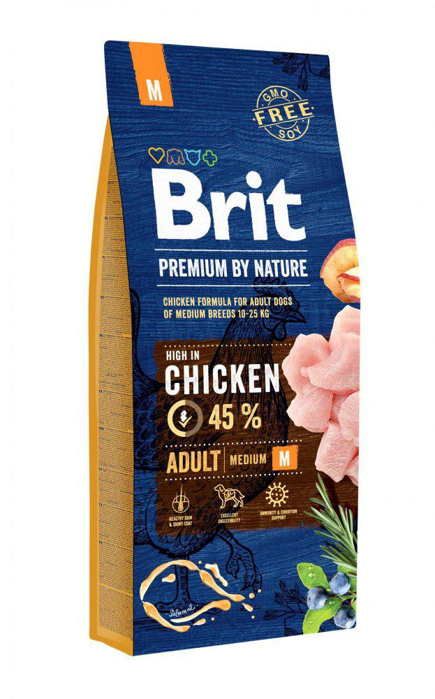 BRIT dog Premium By Nature ADULT M 15kg