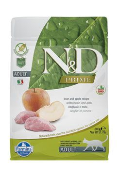 N&D PRIME CAT Adult Boar & Apple 300g