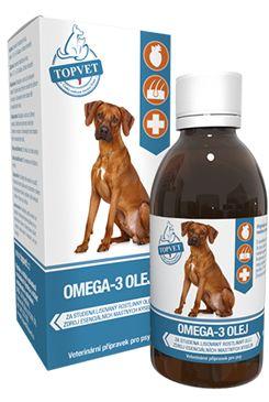 Omega 3 olej pro psy TOPVET 200ml