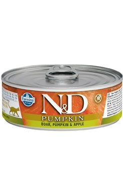 N&D CAT PUMPKIN Adult Boar & Apple 80g