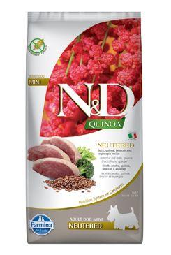 N&D Quinoa DOG Neutered Mini Duck&Broccoli&Asp. 7kg