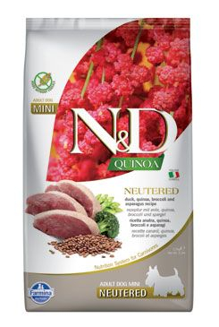 N&D Quinoa DOG Neutered M/L Duck&Broccoli&Asp. 2,5kg