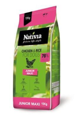 NATIVIA dog JUNIOR maxi 15 kg