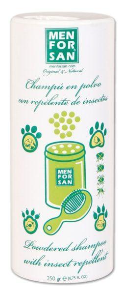 Suchý šampon/pudr Menforsan s repelentem pro domácí mazlíčky