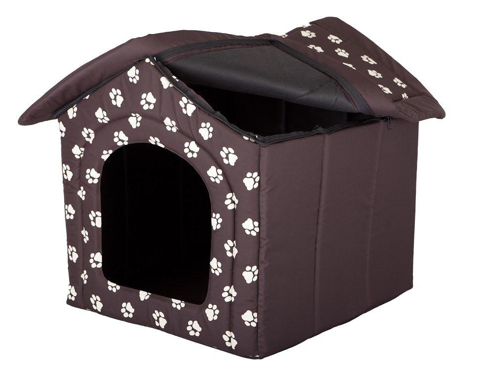 Domeček pro psa Reedog Brown Paw - L