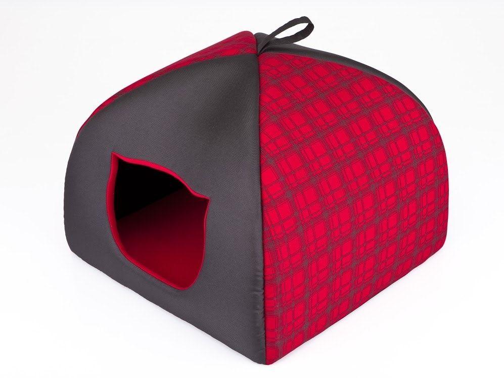 Iglu pro kočky Reedog Red Strips - M