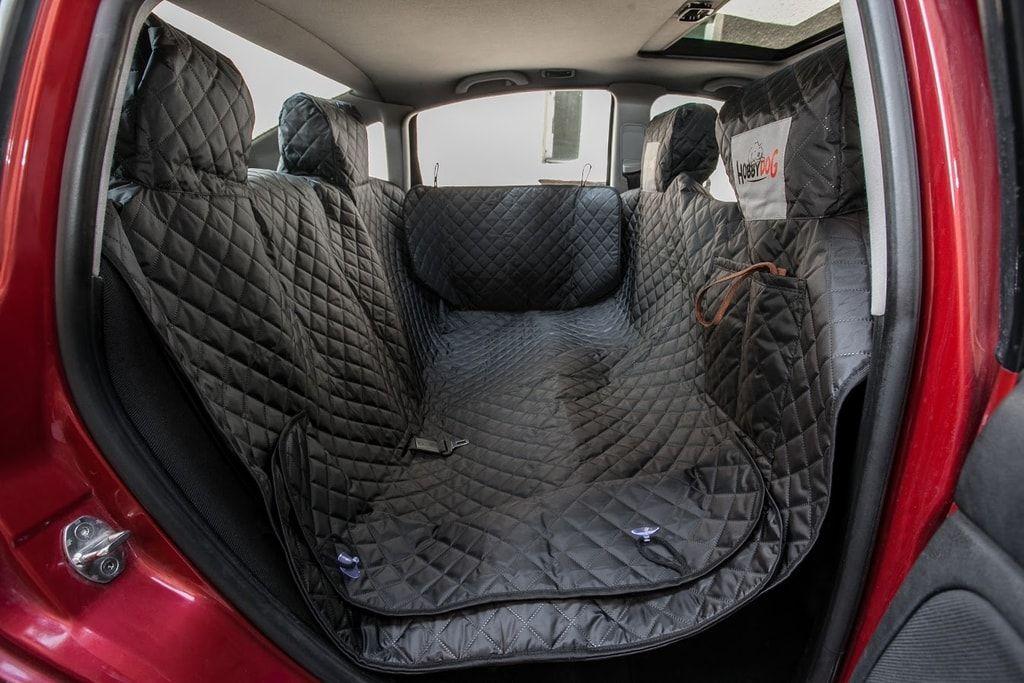 Reedog ochranný autopotah do auta pro psa na zip + boky - černý - M