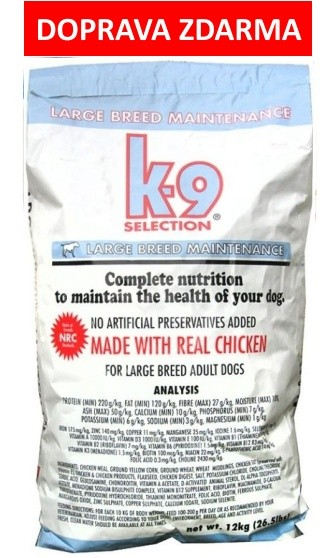 K-9 SELECTION MAINTENANCE LARGE BREED 20kg