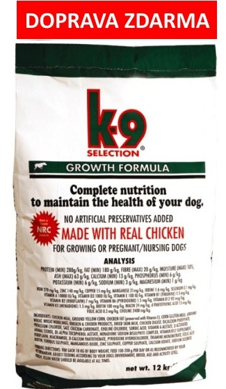 K-9 SELECTION GROWTH FORMULA 12kg - DOPRAVA ZDARMA