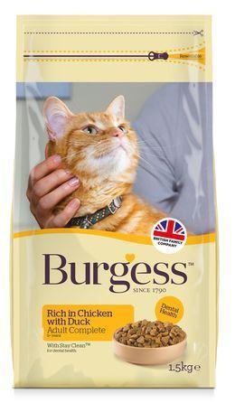 BURGESS cat ADULT chicken/duck 10 kg