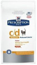 Hills cat c/d reduced calorie 1,5kg